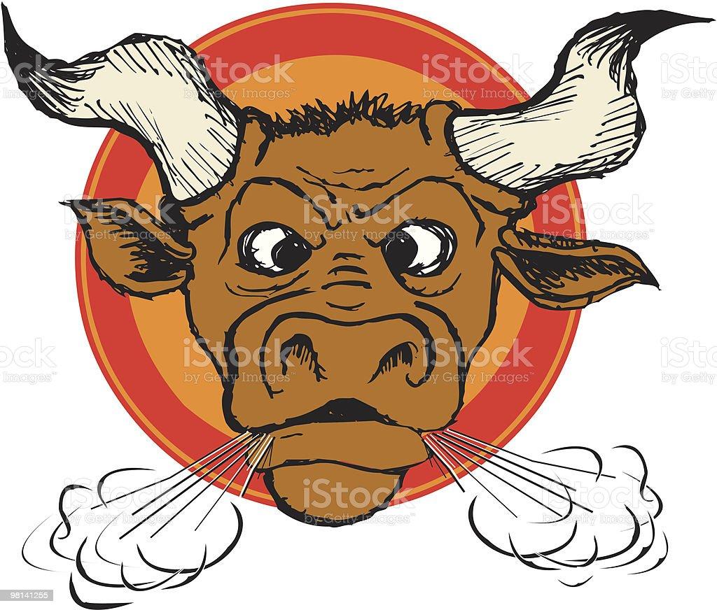 Angry Bull (vector) royalty-free stock vector art