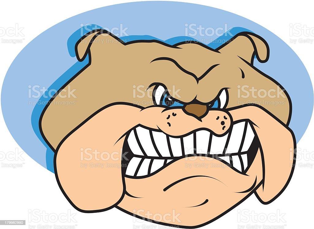 Angry Bulldog royalty-free stock vector art