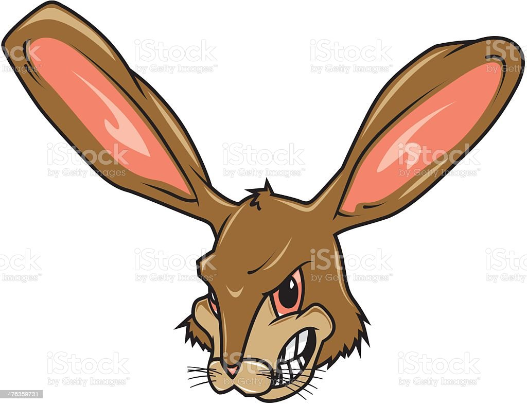 Angry Bunny royalty-free stock vector art