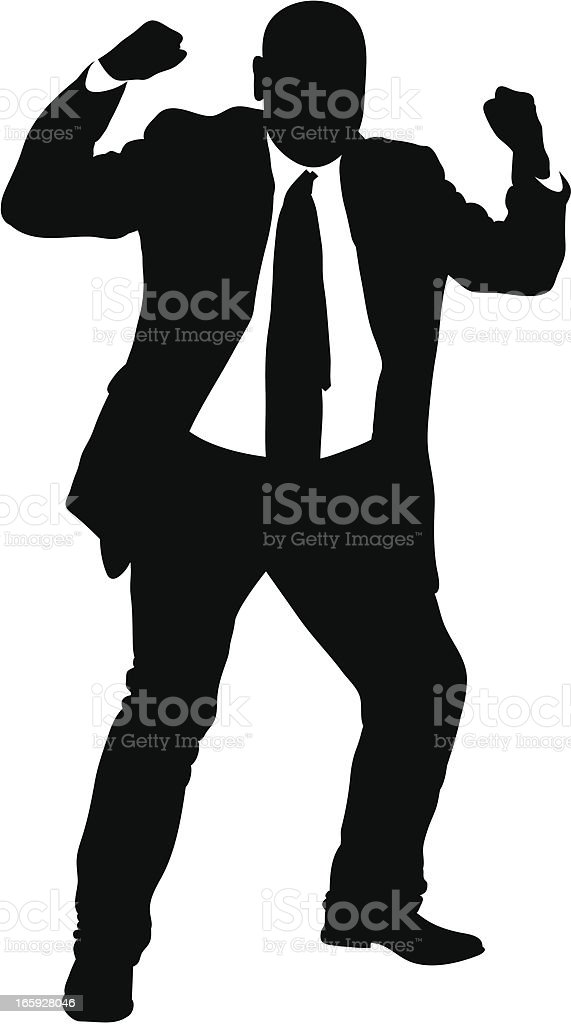 Angry Businessman royalty-free stock vector art