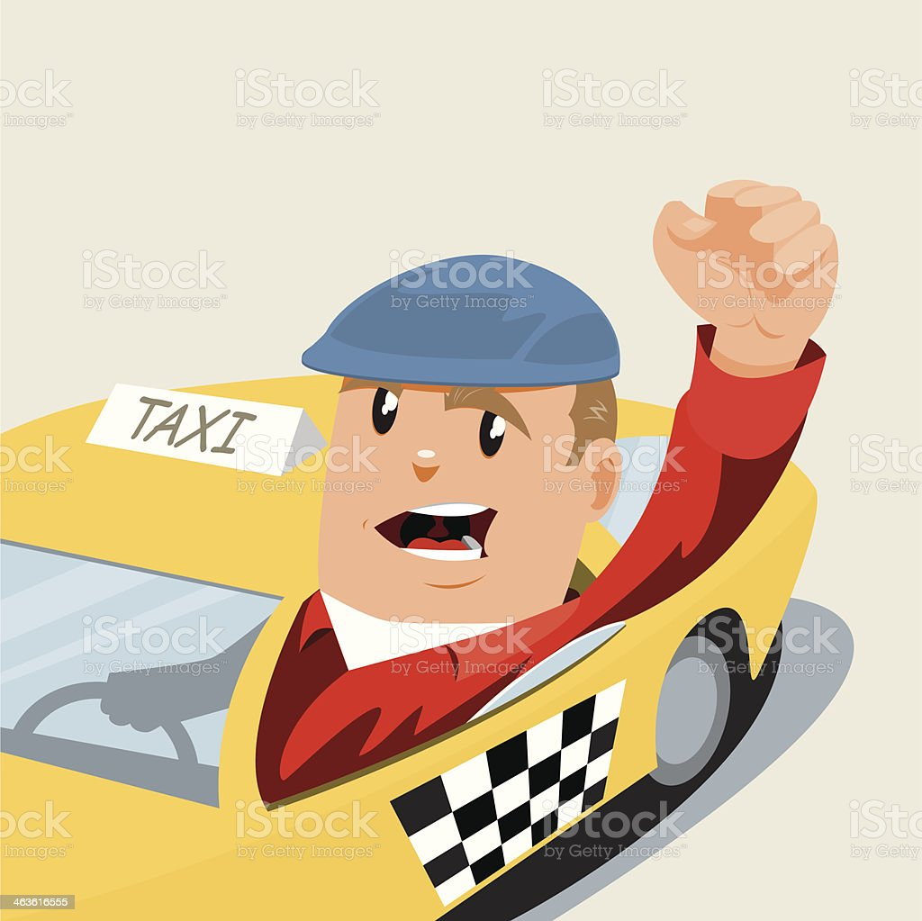 Angry Cabbie royalty-free stock vector art