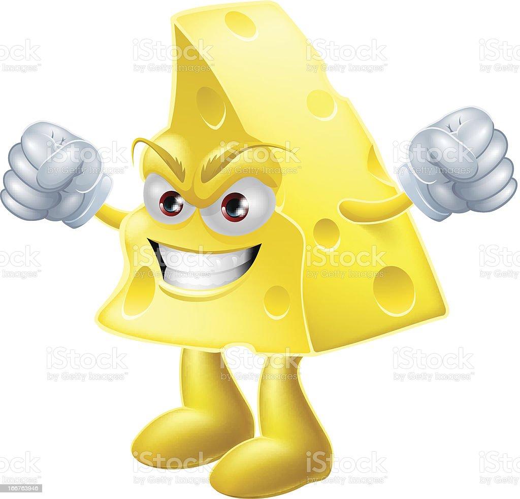 Angry cheese man royalty-free stock vector art
