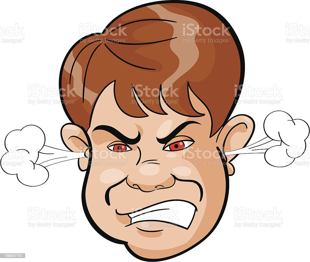 Angry childish face royalty-free stock vector art