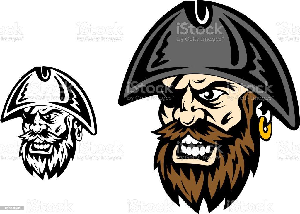 Angry corsair captain royalty-free stock vector art