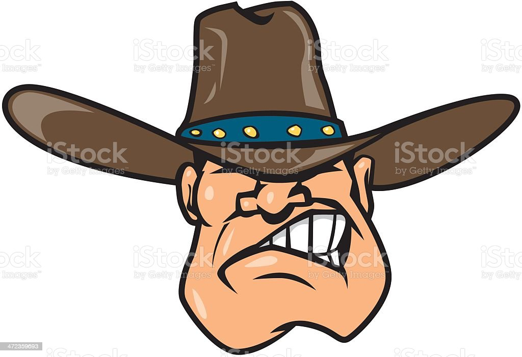 Angry Cowboy royalty-free stock vector art