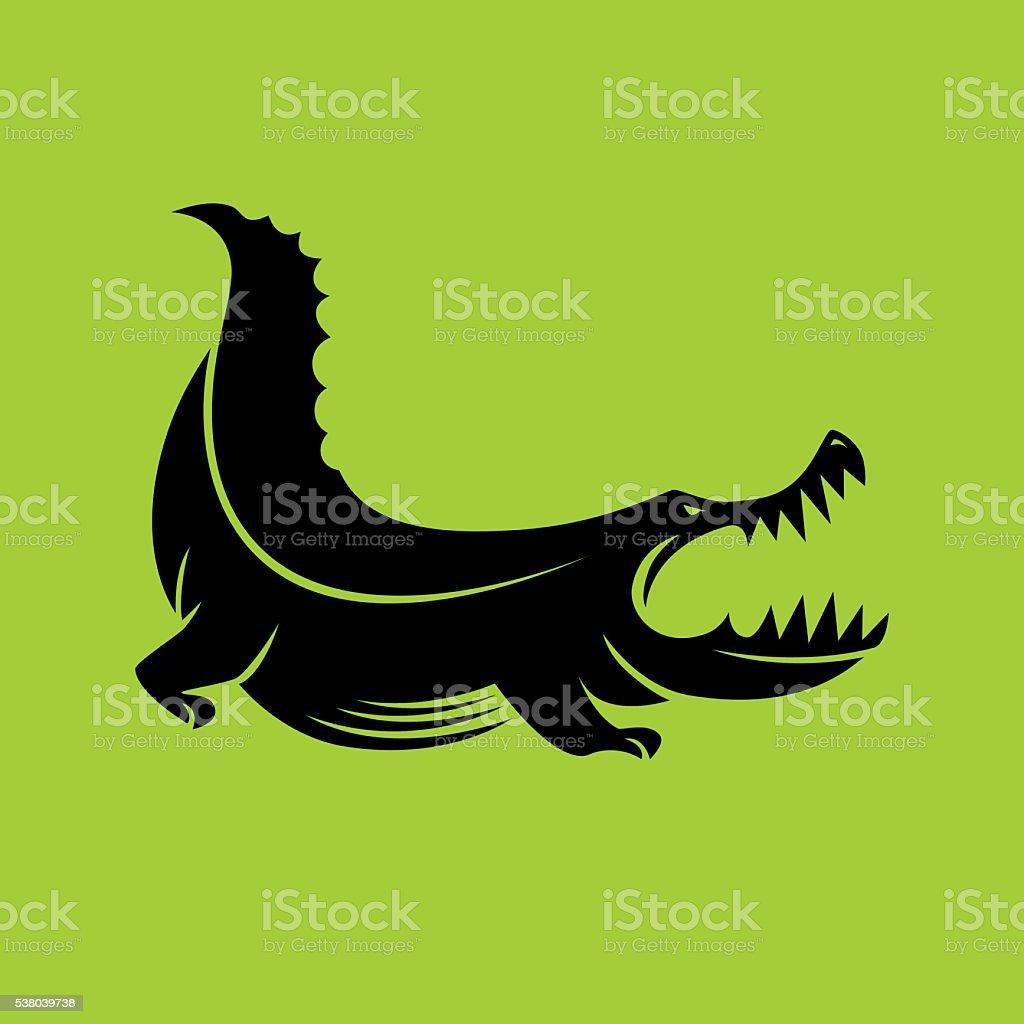 angry crocodile vector art illustration
