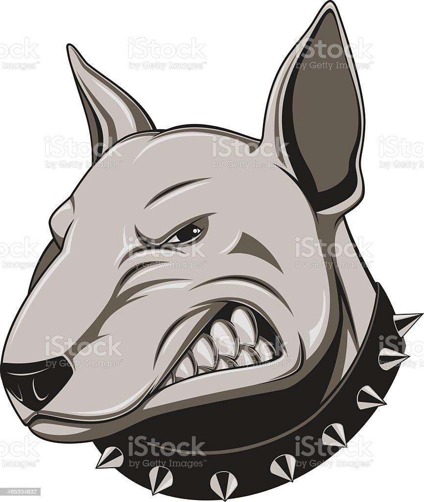 Angry dog vector art illustration