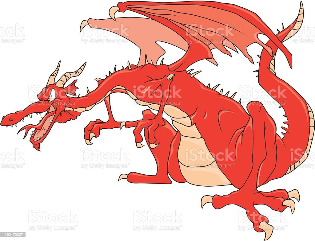 Angry Dragon royalty-free stock vector art
