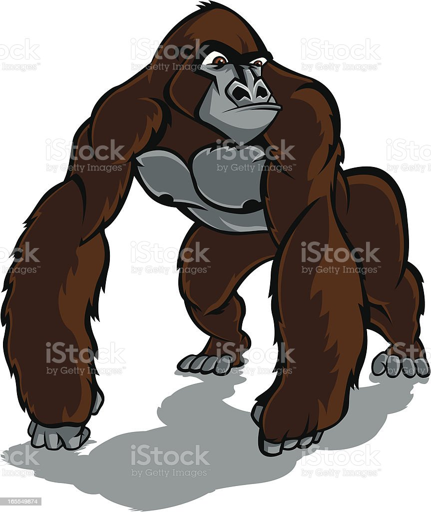 Angry Gorilla royalty-free stock vector art