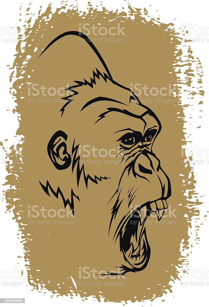Angry gorilla royalty-free stock vector art