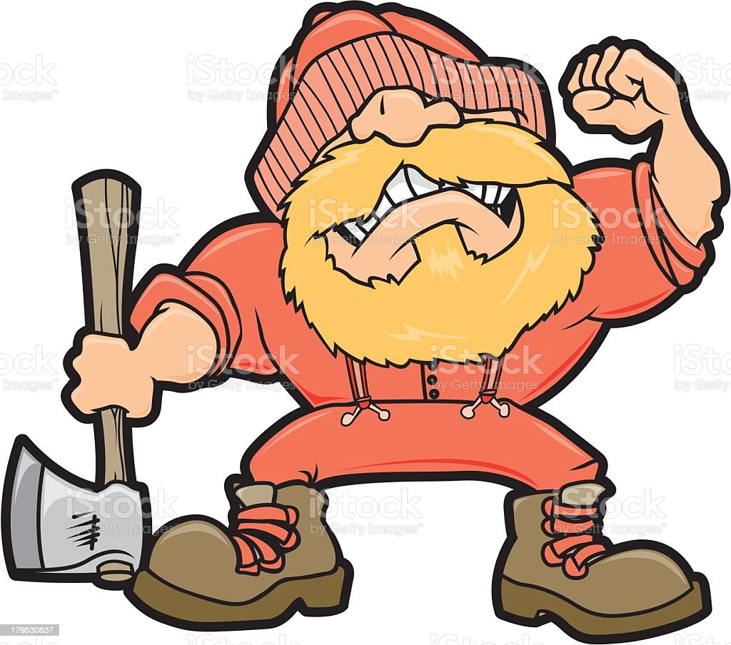 Angry Lumberjack royalty-free stock vector art