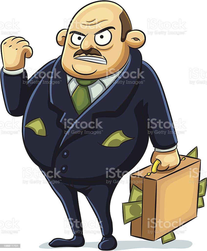 Angry Mafia royalty-free stock vector art