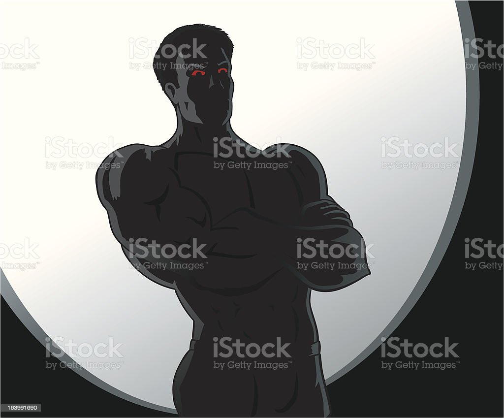 Angry man royalty-free stock vector art
