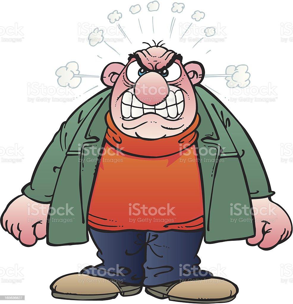 Angry man royalty-free stock vector art