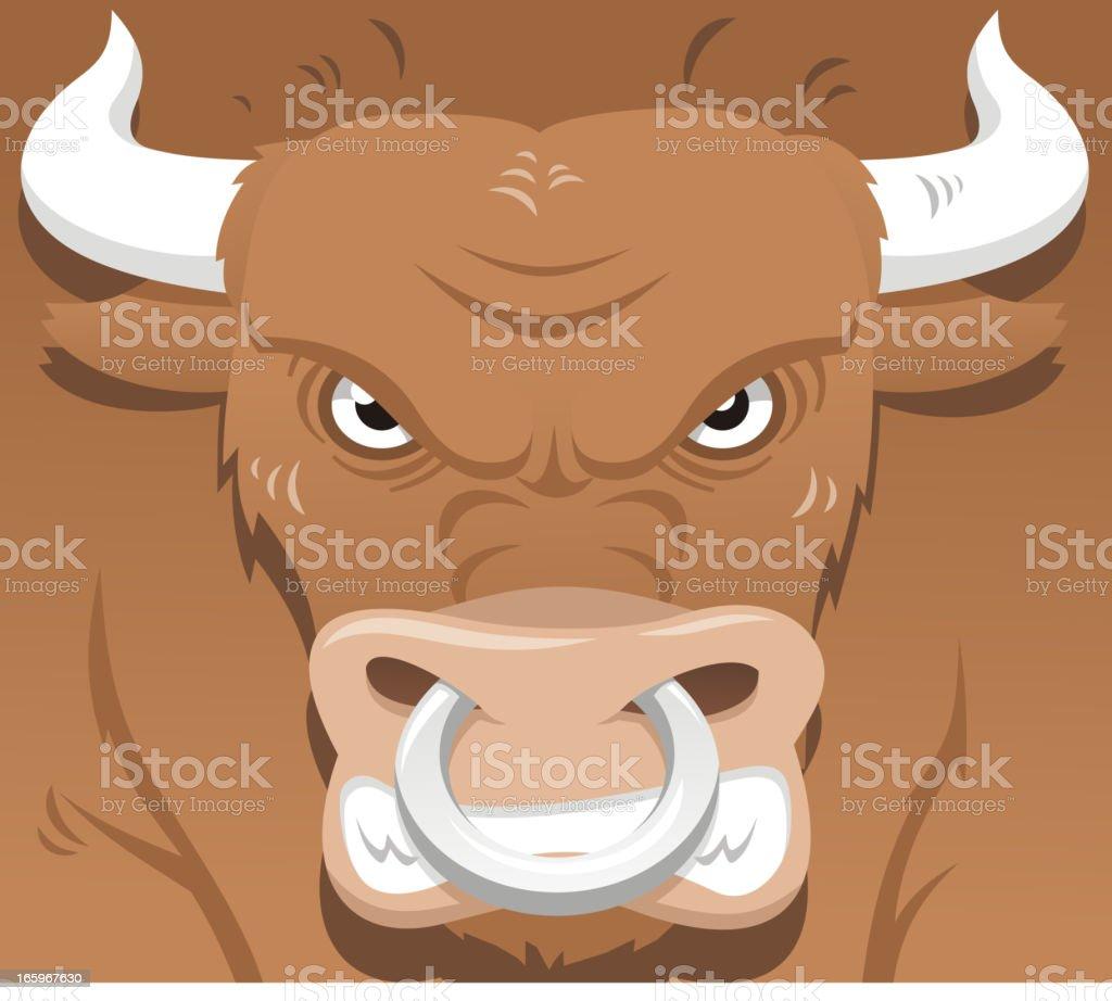Angry market bull royalty-free stock vector art