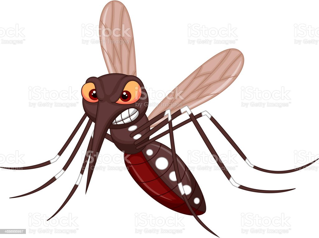 Angry mosquito cartoon royalty-free stock vector art