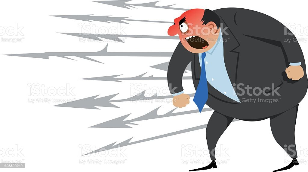 Angry person vector art illustration