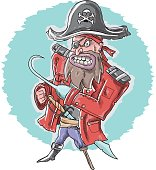 Angry Pirate Vector Illustration 4
