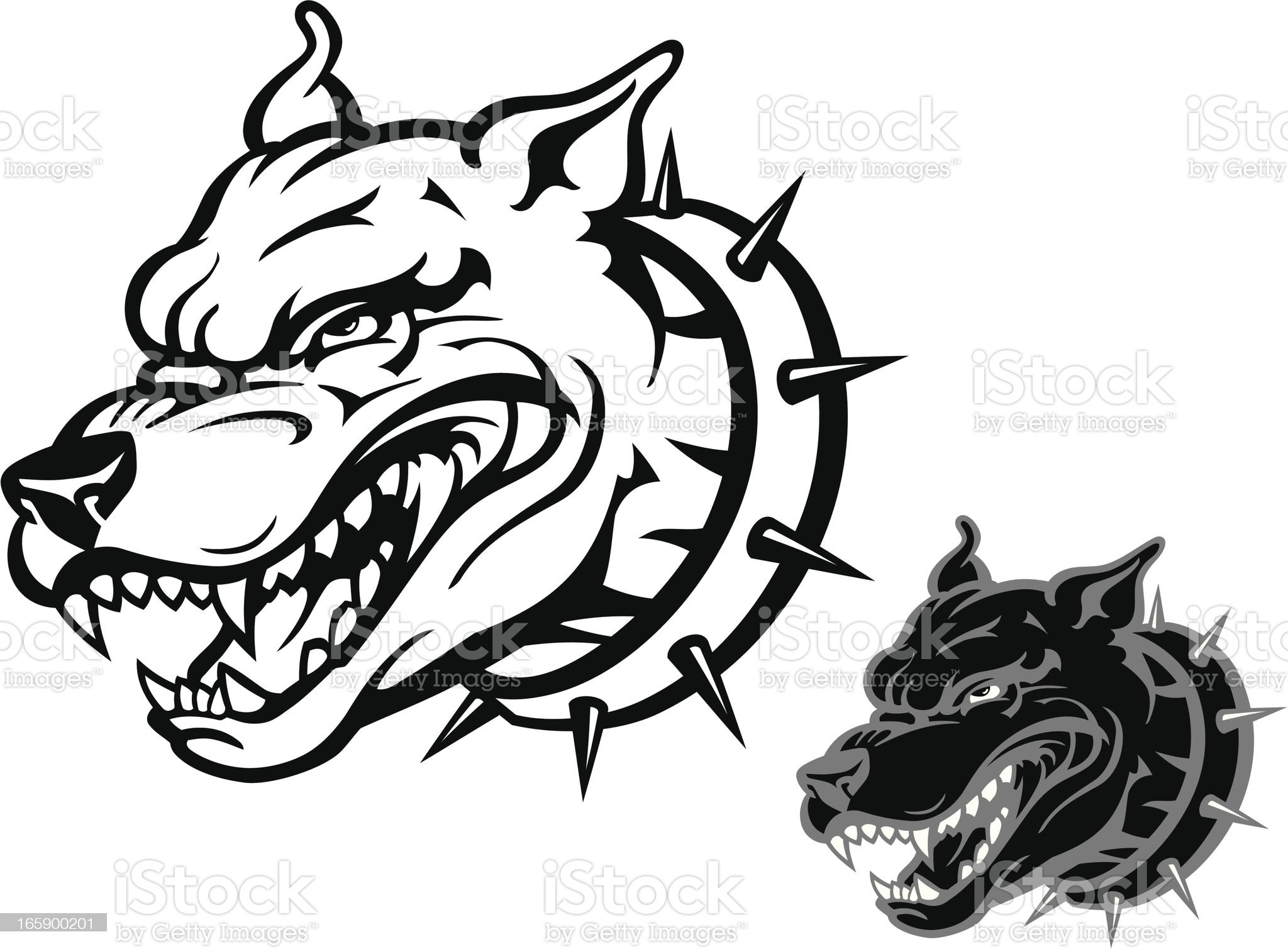 Angry Pitbull royalty-free stock vector art