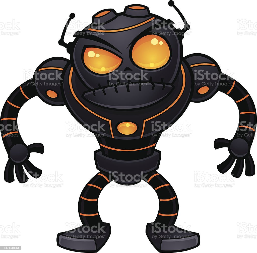 Angry Robot royalty-free stock vector art