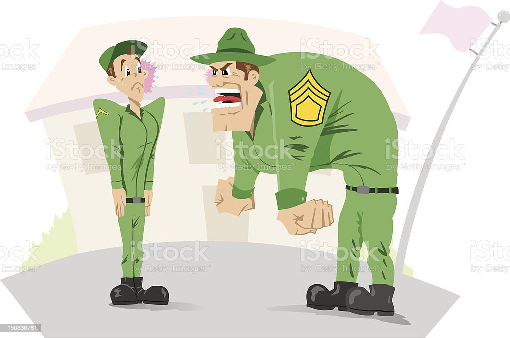 Angry sergeant royalty-free stock vector art
