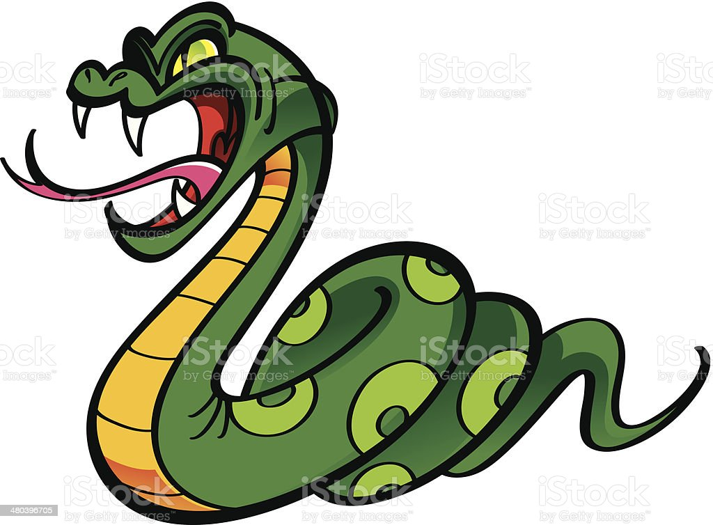 Angry snake vector art illustration