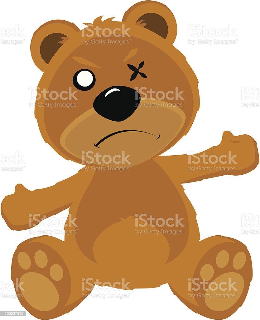 Angry Teddy Bear royalty-free stock vector art