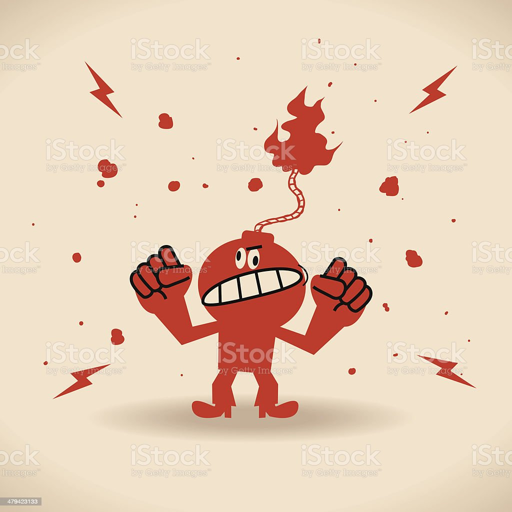 Angry royalty-free stock vector art