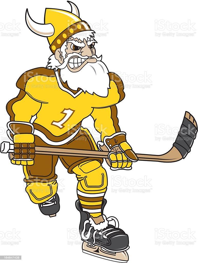 Angry Viking Hockey Player royalty-free stock vector art