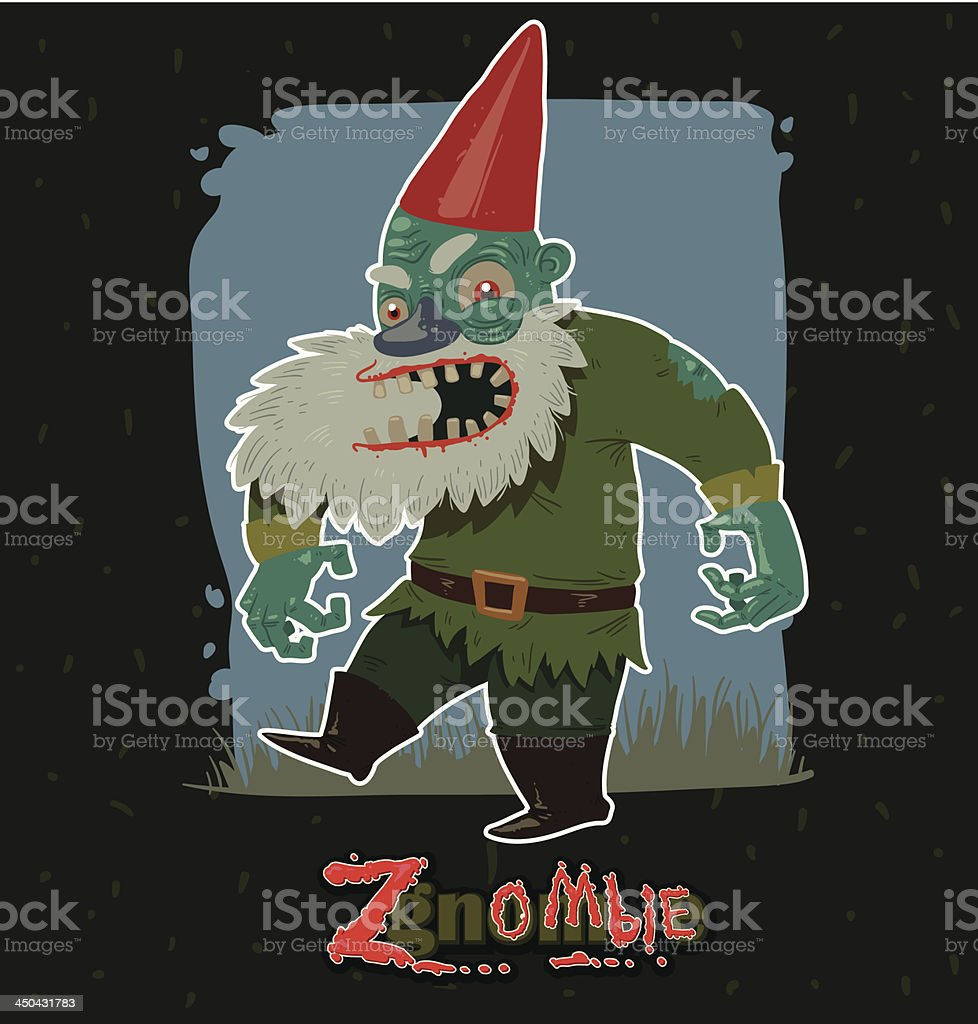 Angry Zgnombie royalty-free stock vector art