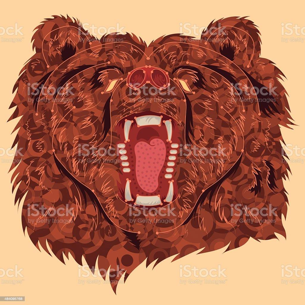 Angry-Bear vector art illustration