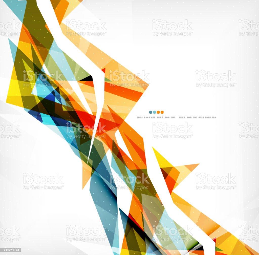Angular geometric color shapes vector art illustration