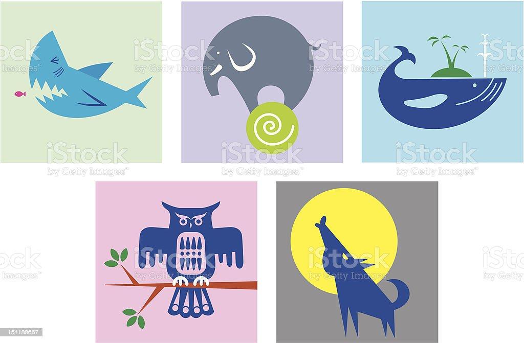 animal art royalty-free stock vector art