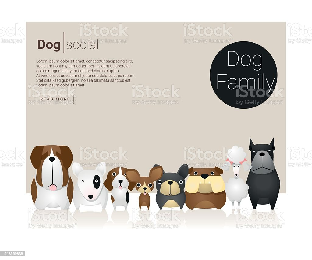 Animal banner with Dogs for web design 6 vector art illustration