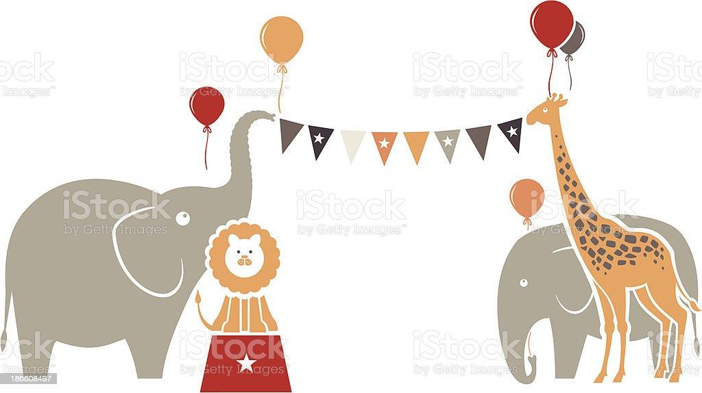 Animal Birthday Party royalty-free stock vector art