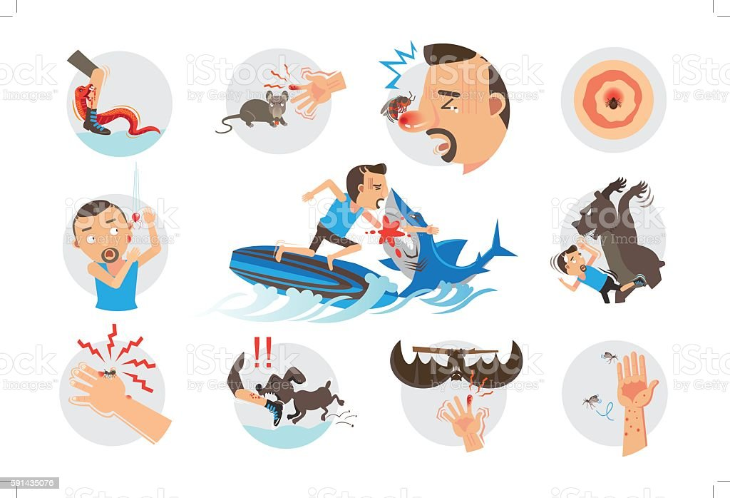 Animal Bites illustrazione royalty-free