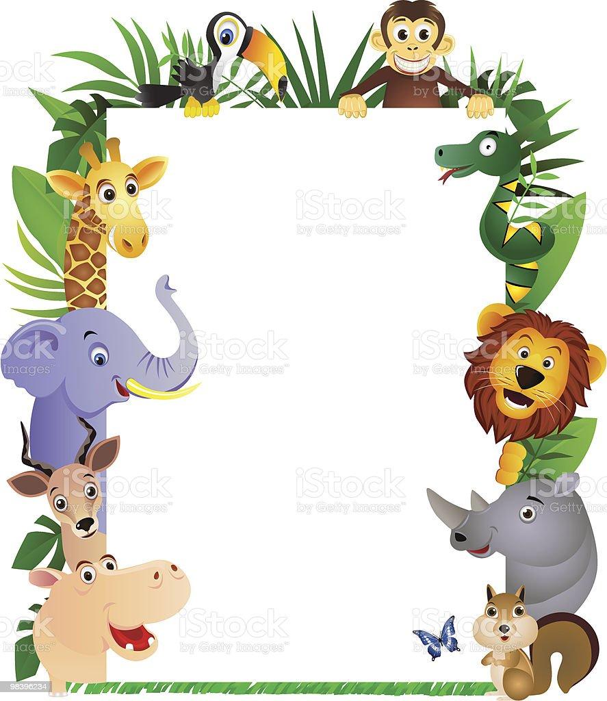 Animal cartoon frame royalty-free stock vector art