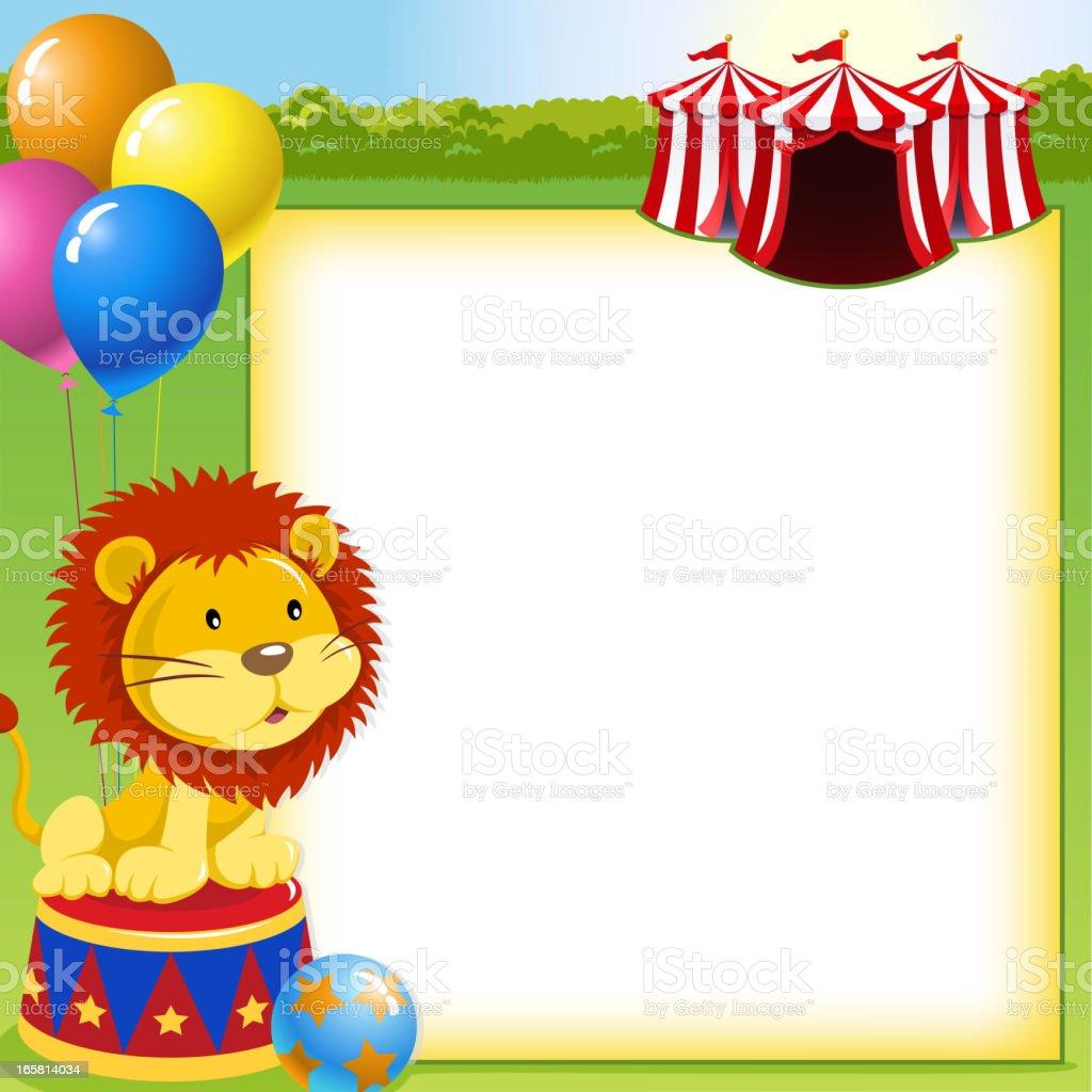 Animal Circus Notice royalty-free stock vector art