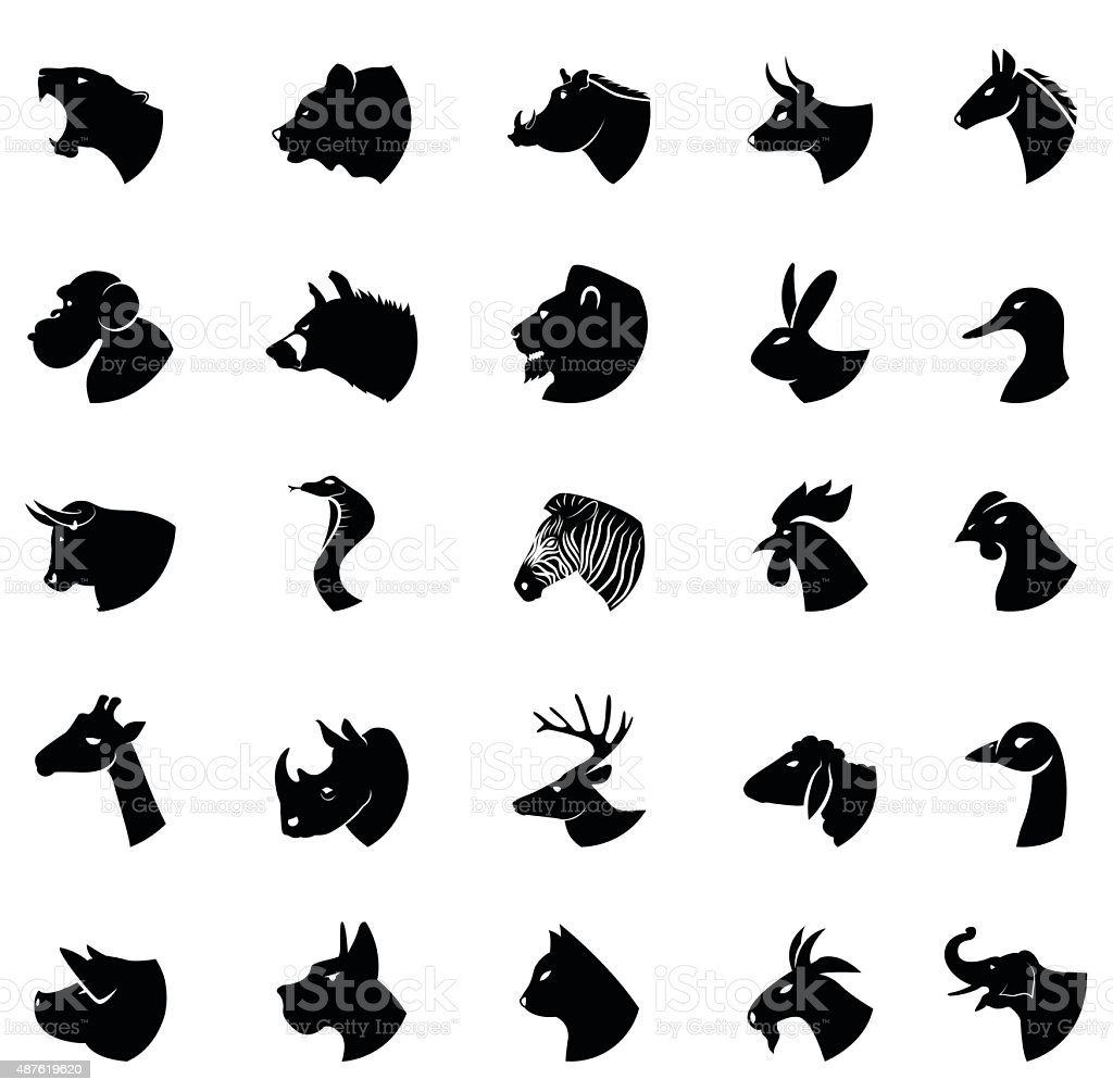 animal collection vector art illustration