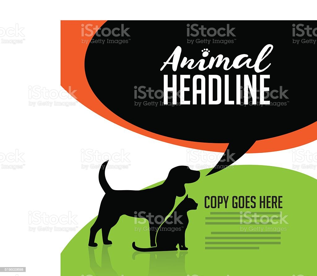 Animal dog and cat poster vector art illustration