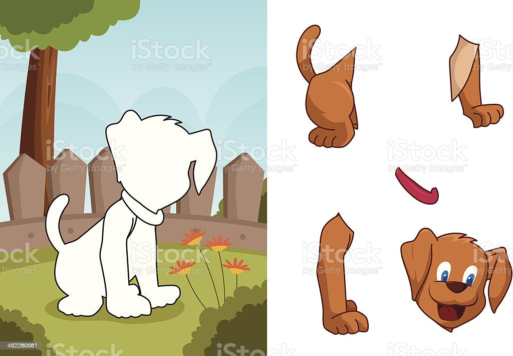 Animal dog puzzle royalty-free stock vector art