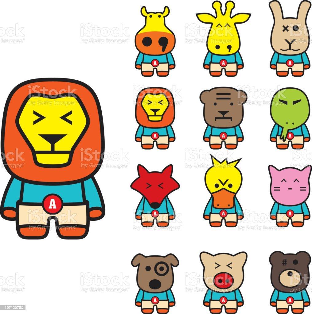 animal  flat icon set royalty-free stock vector art
