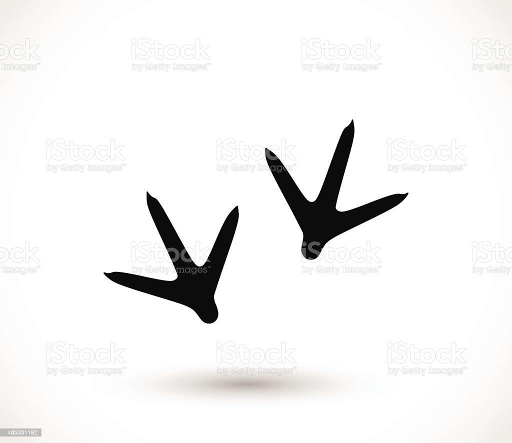 Animal footprint - hen vector illustration vector art illustration