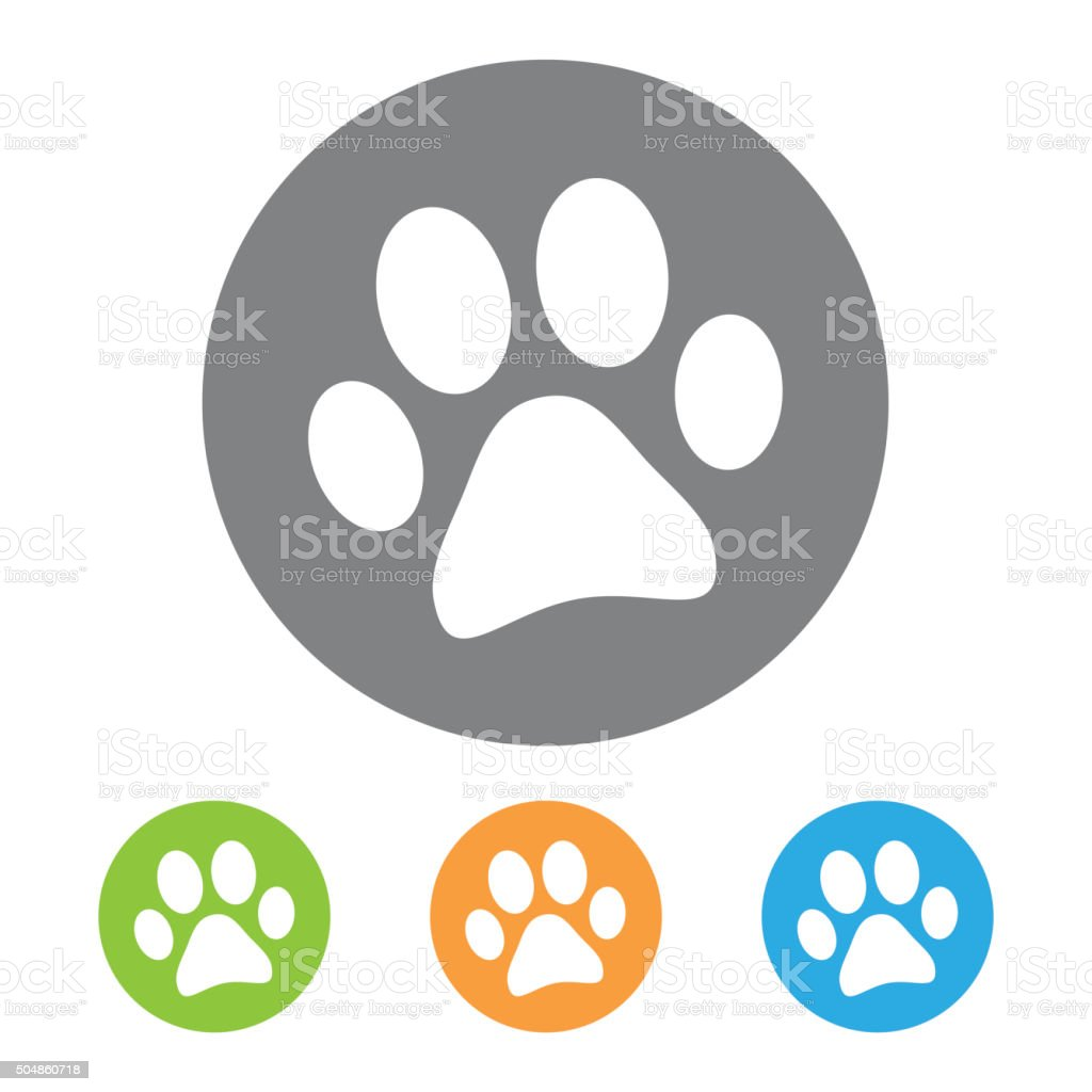 Animal footprint icon. Vector stock photo