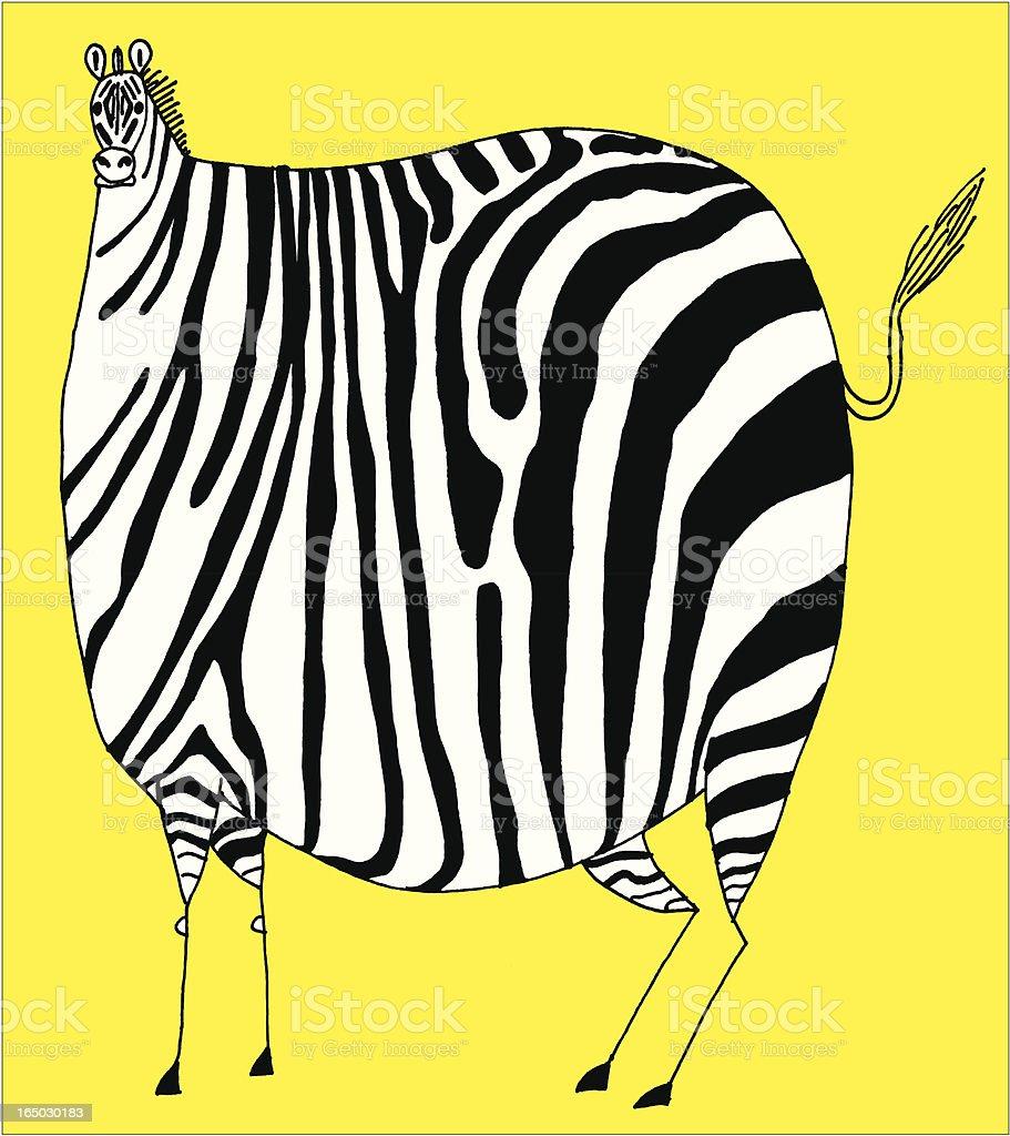 Animal - Fun Zebra royalty-free stock vector art