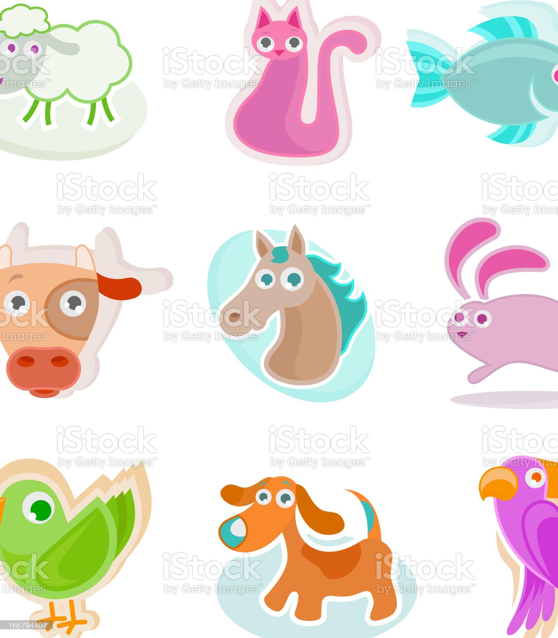 Animal Icon set royalty-free stock vector art
