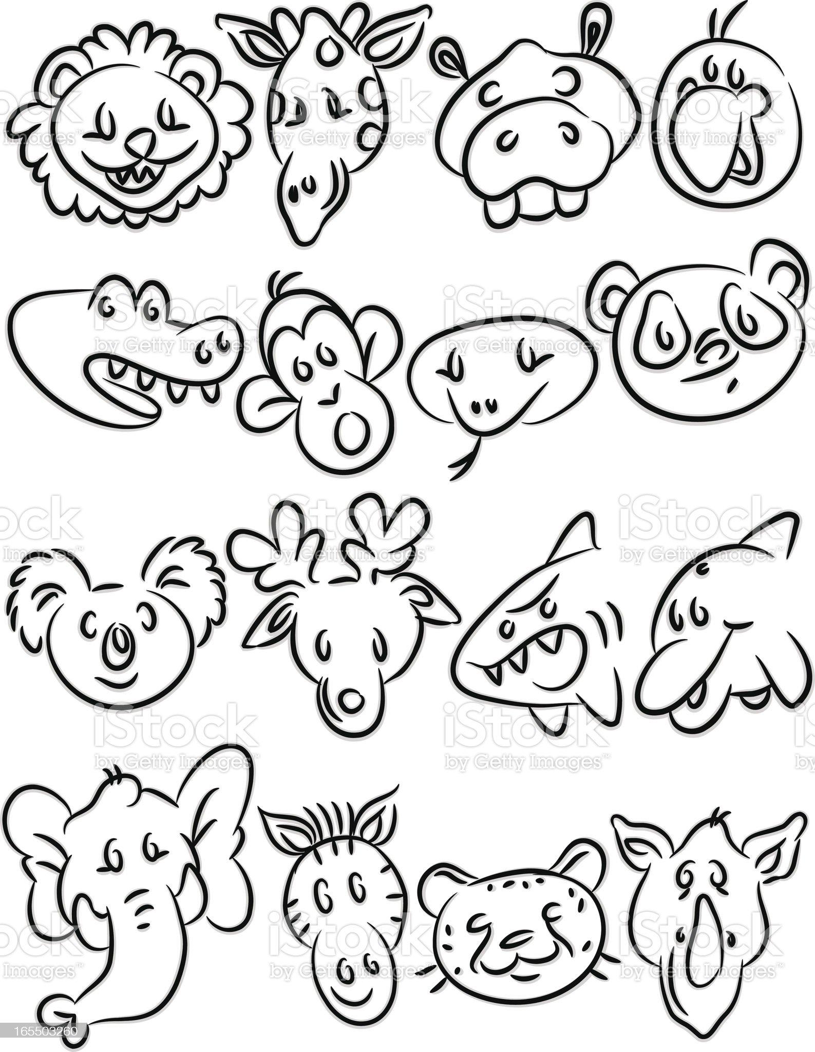 Animal Icons II royalty-free stock vector art
