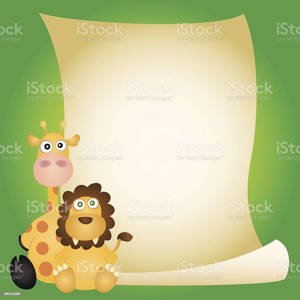 Animal Invitation royalty-free stock vector art