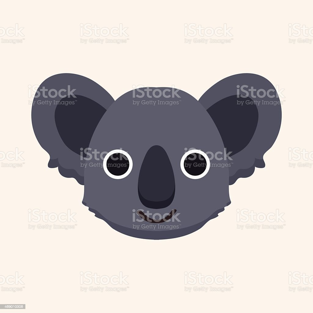 animal koala cartoon theme elements vector art illustration
