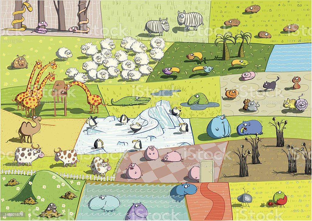 Animal Landscapes stock photo